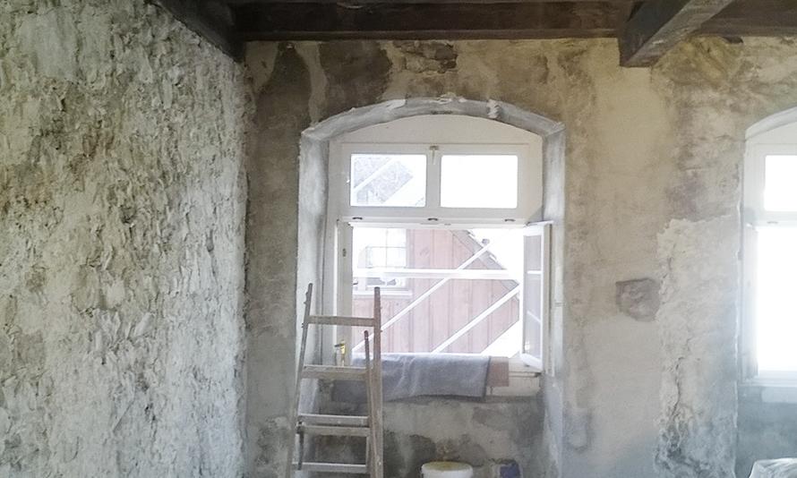 Bruchsteinwand Sanieren renovastukk gmbh